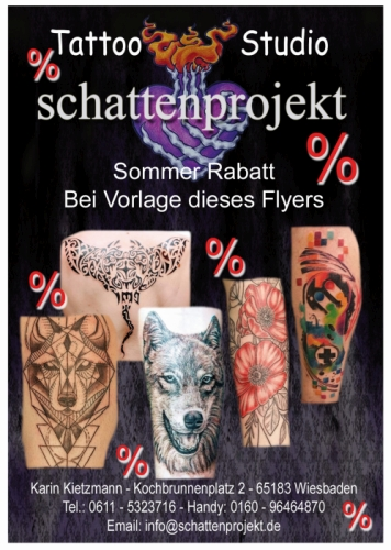 Rabatt Tattoostudio In Wiesbaden